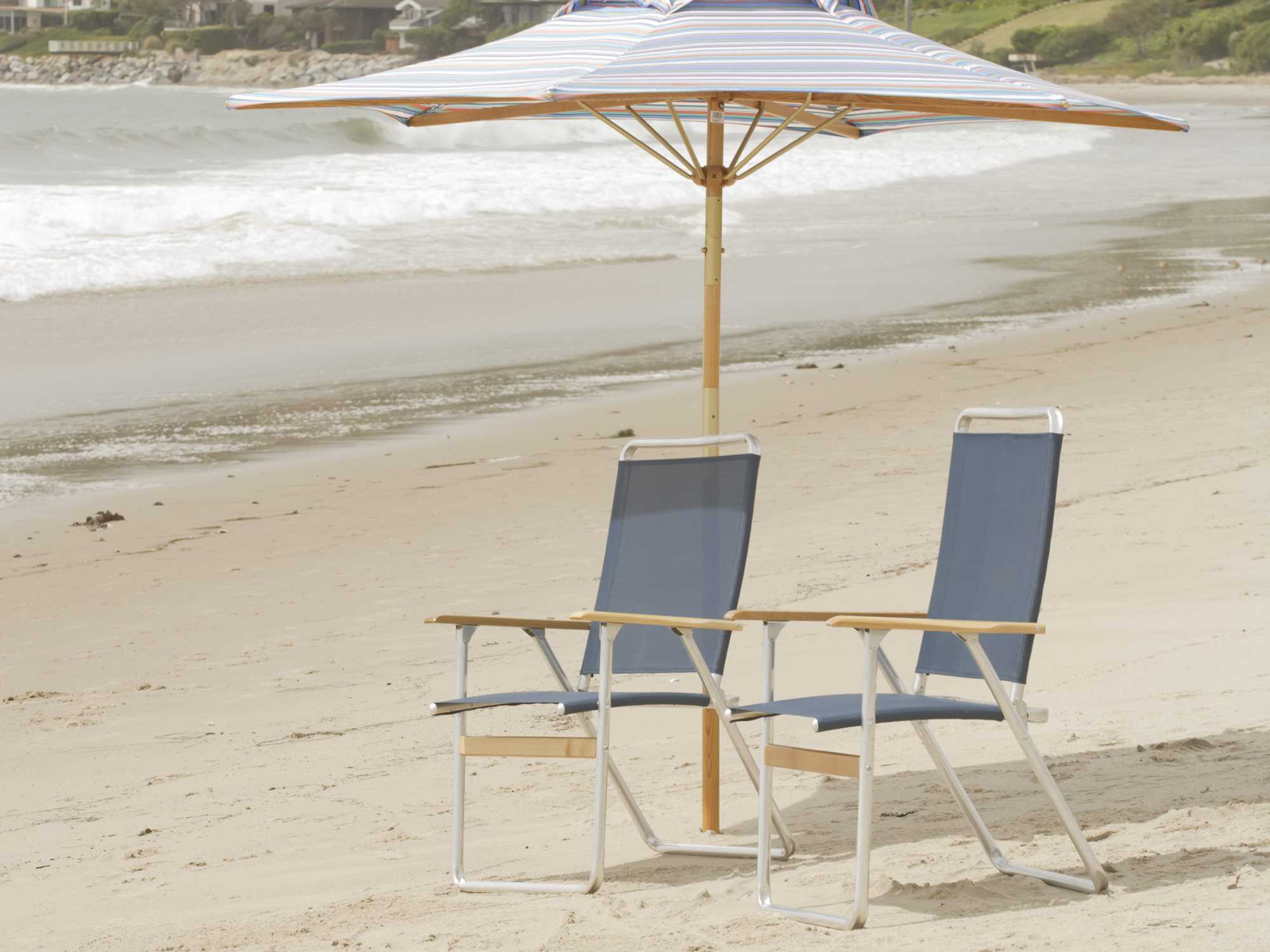 Telescope Casual Beach Chairs Aluminum Lounge Set Beachset