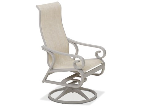 Telescope Casual Charleston Sling Aluminum Supreme Swivel Rocker Dining Arm Chair
