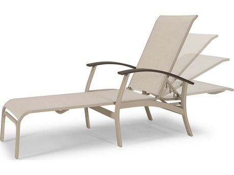 Telescope Casual Belle Isle Sling Aluminum Four Position Lay-Flat Chaise