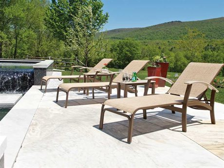 Telescope Casual Belle Isle Sling Aluminum Chaise Lounge Set