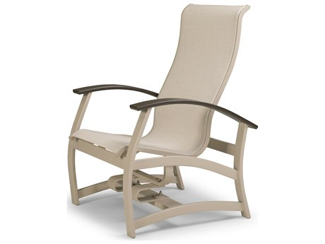 Telescope Casual Belle Isle Sling Aluminum Glider Lounge Chair