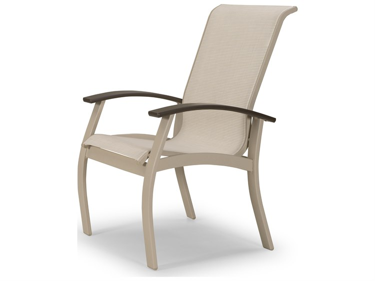 Telescope Casual Belle Isle Sling Aluminum Dining Arm Chair PatioLiving