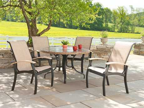Telescope Casual Belle Isle Sling Aluminum Dining Set TCL570SET1