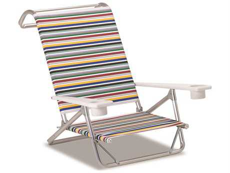 Telescope Casual Beach And Pool Aluminum Original Mini-Sun Chaise with MGP arms with cup holders