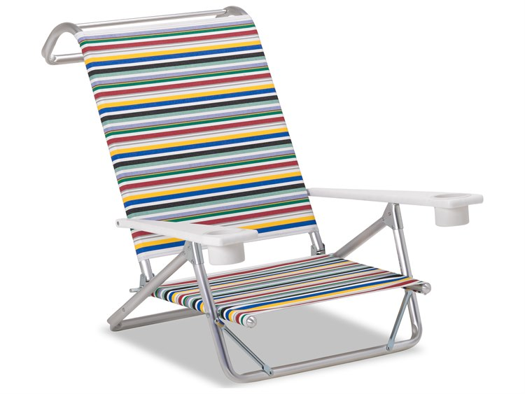Telescope Casual Beach And Aluminum Original Mini-Sun Chaise with MGP arms with cup holders