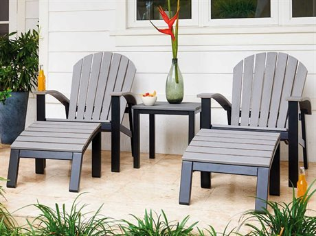 Telescope Casual Newport Aluminum Recycled Plastic Lounge Set
