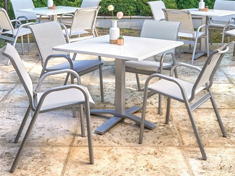 Telescope Casual Reliance Sling Aluminum Dining Set