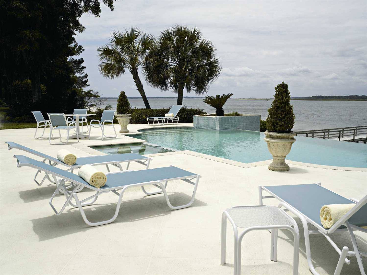 Casual Living Pools : Telescope Casual Reliance Sling Aluminum Lounge Set  RLSPL