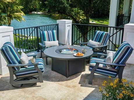 St. Catherine MGP Cushion Recycled Plastic Fire Pit Lounge Set