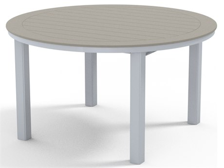 Telescope Casual Marine Grade Polymer 54''Wide Round Dining Height Table with Umbrella Hole