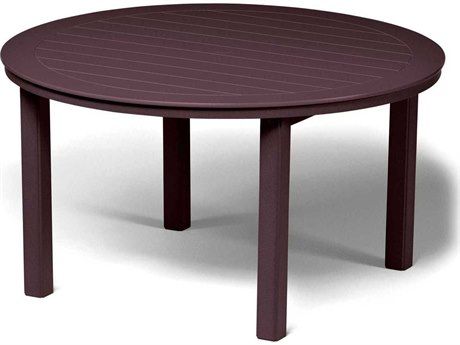 Telescope Casual Marine Grade Polymer 54 Round Dining Table with Umbrella Hole