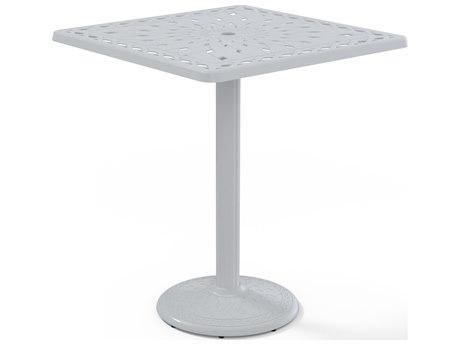 Telescope Casual Cast Aluminum 36 Square Bar Table With Umbrella Hole