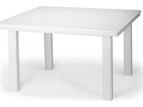 Telescope Casual Werzalit Top 42 Square Chat Height Table with Hole