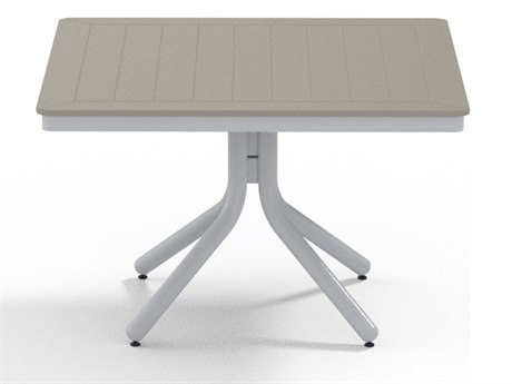 Telescope Casual Marine Grade Polymer 36''Wide Square Chat Height Table with Umbrella Hole