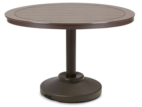 Telescope Casual Marine Grade Polymer 42'' Wide Round Dining Table with Umbrella Hole