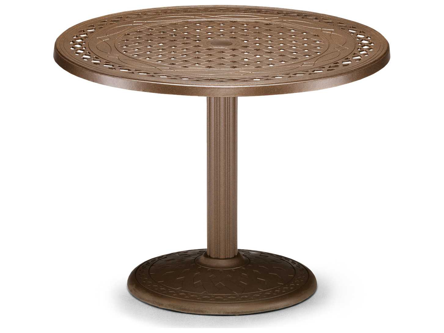 telescope casual cast aluminum 36 round dining table with
