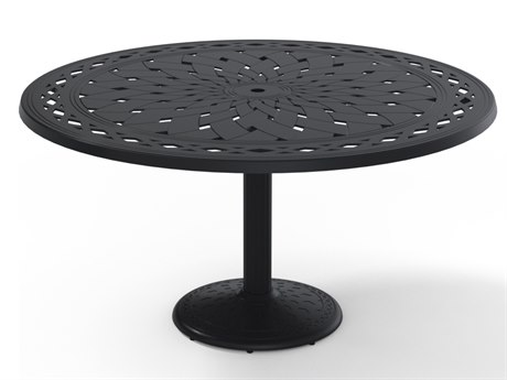 Telescope Casual Cast Aluminum 56 Round Dining Table
