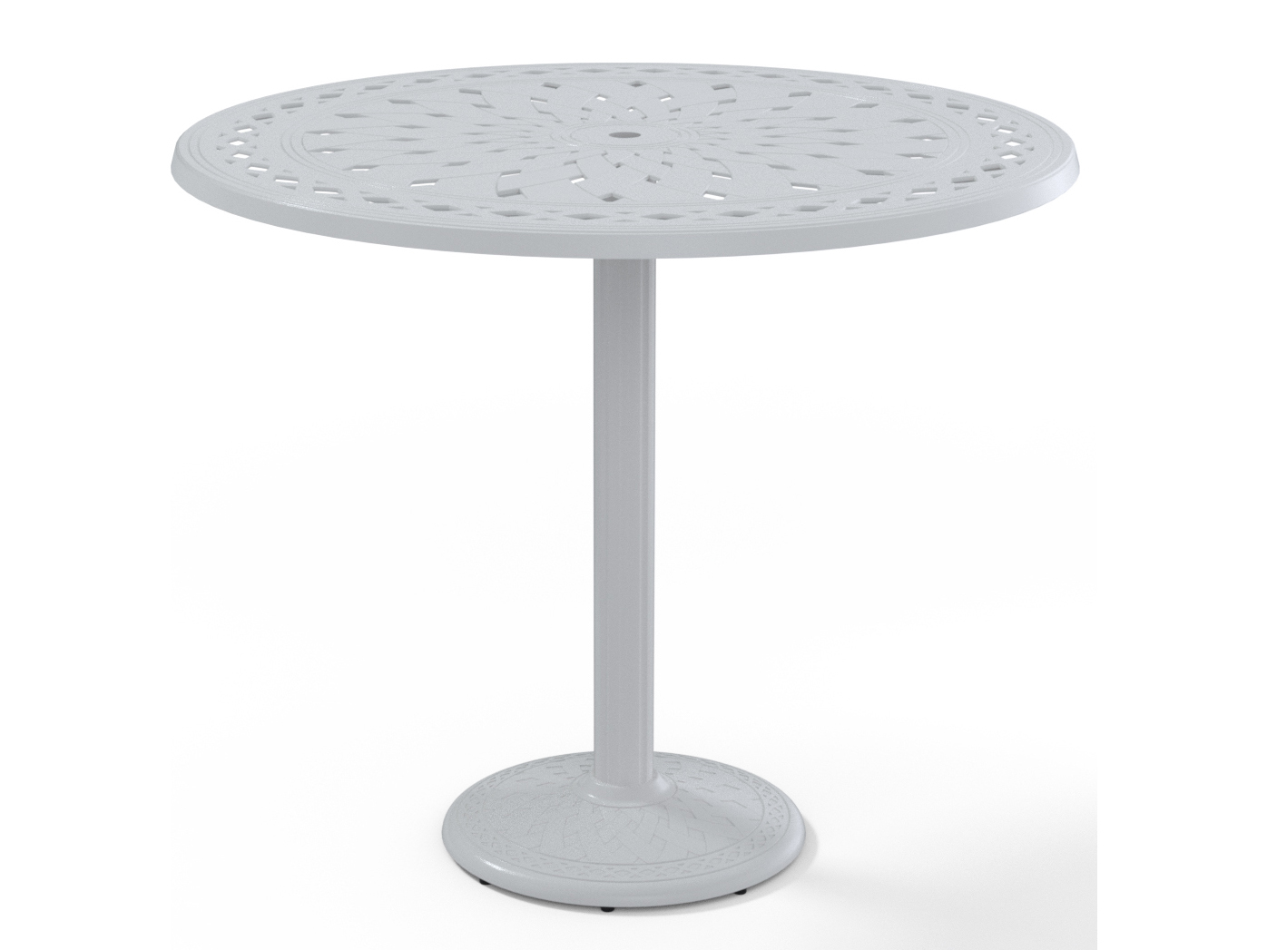 telescope casual cast aluminum 48 round bar table t760 1700bas. Black Bedroom Furniture Sets. Home Design Ideas