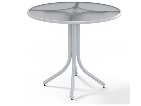 Telescope Casual Banded Hammered 42'' Round Balcony Height Table with Umbrella Hole