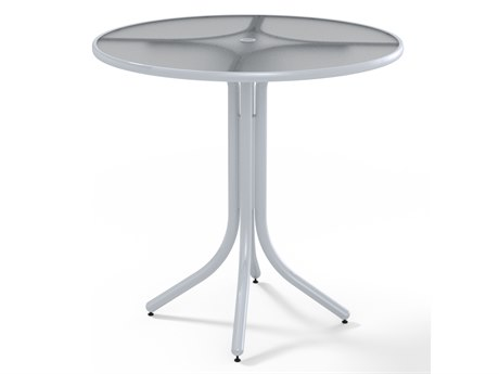 Telescope Casual Banded Hammered 42'' Round Bar Height Table with Umbrella Hole