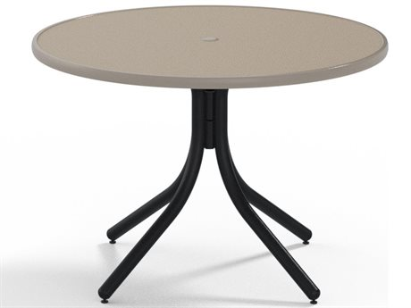Telescope Casual Obscure Acrylic 42'' Round Dining Height Table with Umbrella Hole