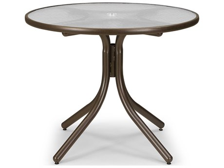 Telescope Casual Obscure Acrylic 36'' Round Dining Height Table with Umbrella Hole