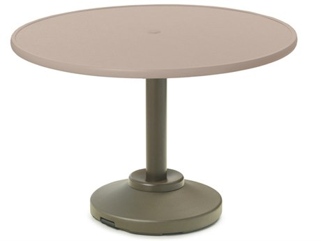 Telescope Casual Banded Hammered Mgp Aluminum 30'' Wide Round Dining Table