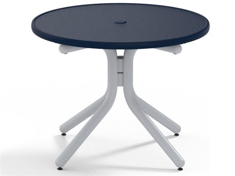 Telescope Casual Obscure Acrylic Top Aluminum 42 Round Chat Table