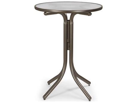 Telescope Casual Obscure Acrylic 30'' Round Bar Height Table