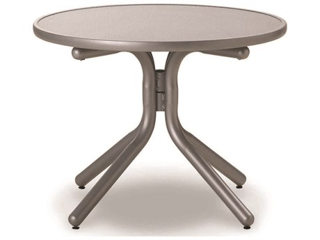 Telescope Casual Embossed Aluminum Top 30 Round Chat Height Table with Hole