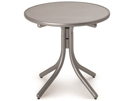 Telescope Casual Embossed Aluminum Top 30 Round Dining Height Table