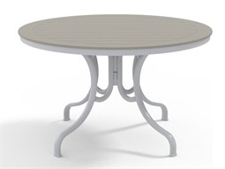 Telescope Casual Marine Grade Polymer 48'' Wide Round Deluxe Dining Height Table with Umbrella Hole