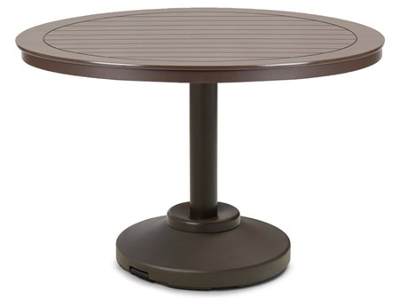 Telescope Casual Marine Grade Polymer48'' Wide Round Dining Table with Umbrella Hole