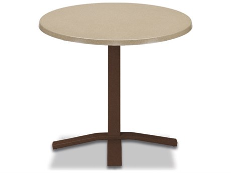 Telescope Casual Werzalit Top Recycled Plastic 30''Wide Round Pedestal Dining Height Table