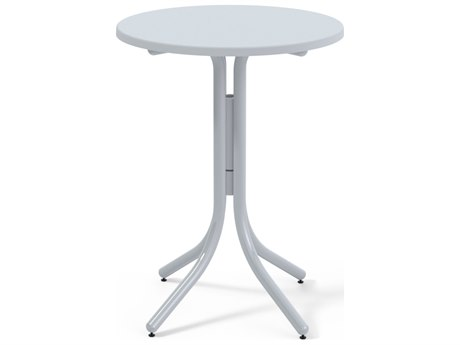 Telescope Casual Werzalit Top Recycled Plastic 30''Wide Round Bar Height Table