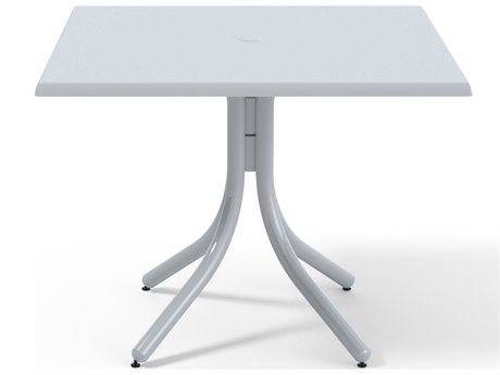 Telescope Casual Werzalit Top Recycled Plastic 36''Wide Square Dining Height Table with Umbrella Hole