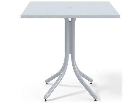 Telescope Casual Werzalit Top Recycled Plastic 36''Wide Square Counter Height Table with Umbrella Hole