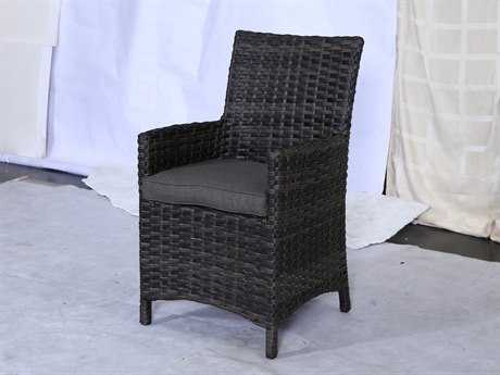 Teva Bora Bora Set of 2 Wicker Rattan Dining Chairs with Arms TE103ADC