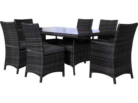 Teva Bora Bora Wicker Rattan Dining Set PatioLiving