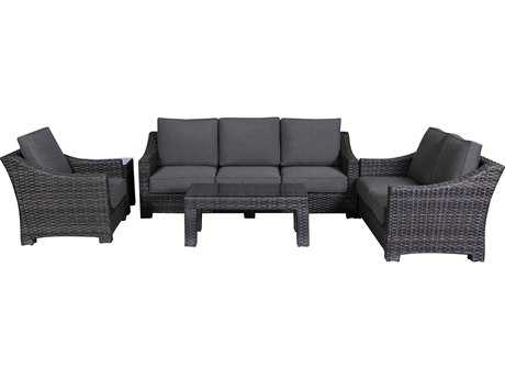 Teva Bora Bora Wicker Rattan Deep Seating Set PatioLiving