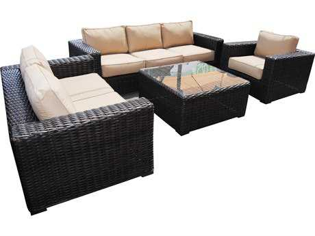 Teva Santa Monica Wicker Rattan Deep Seating Set PatioLiving