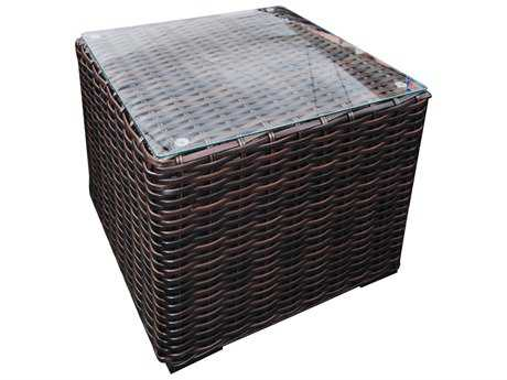Teva Santa Monica Wicker Rattan 20W x 20H Square End Table