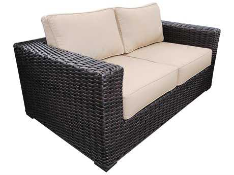 Teva Santa Monica Wicker Rattan Loveseat