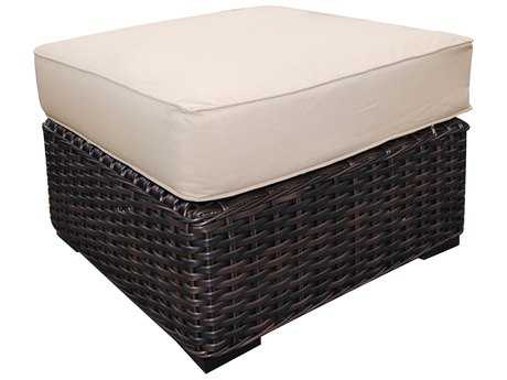 Teva Santa Monica Wicker Rattan Ottoman PatioLiving