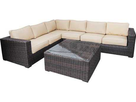 Teva Santa Monica Wicker Rattan Sectional Set