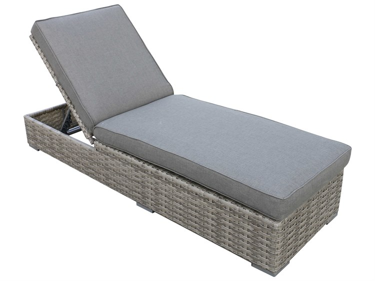 Teva bali wicker chaise lounge 107 cl for Balinese chaise lounge