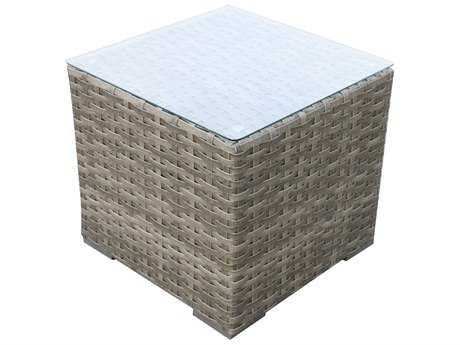 Teva Bali Wicker 24 Square End Table