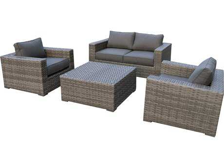 Teva Bali Wicker Loveseat Lounge Set