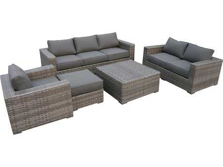 Teva Bali Wicker Deep Seating Lounge Set