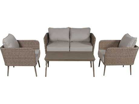 Teva Capri Wicker Loveseat Lounge Set